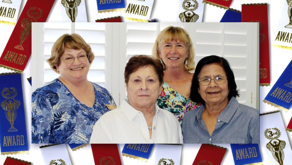 Cindy Osborne, Maria Elena, Barbara Crews, Sarla Purohit framed